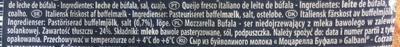 Mozzarella di Latte di Bufala - Ingredienser - da