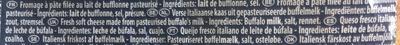 Mozzarella di Latte di Bufala - Ingrediënten - nl