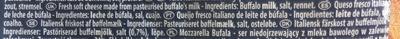 Mozzarella Galbani di latte di Bufala - Ingredients
