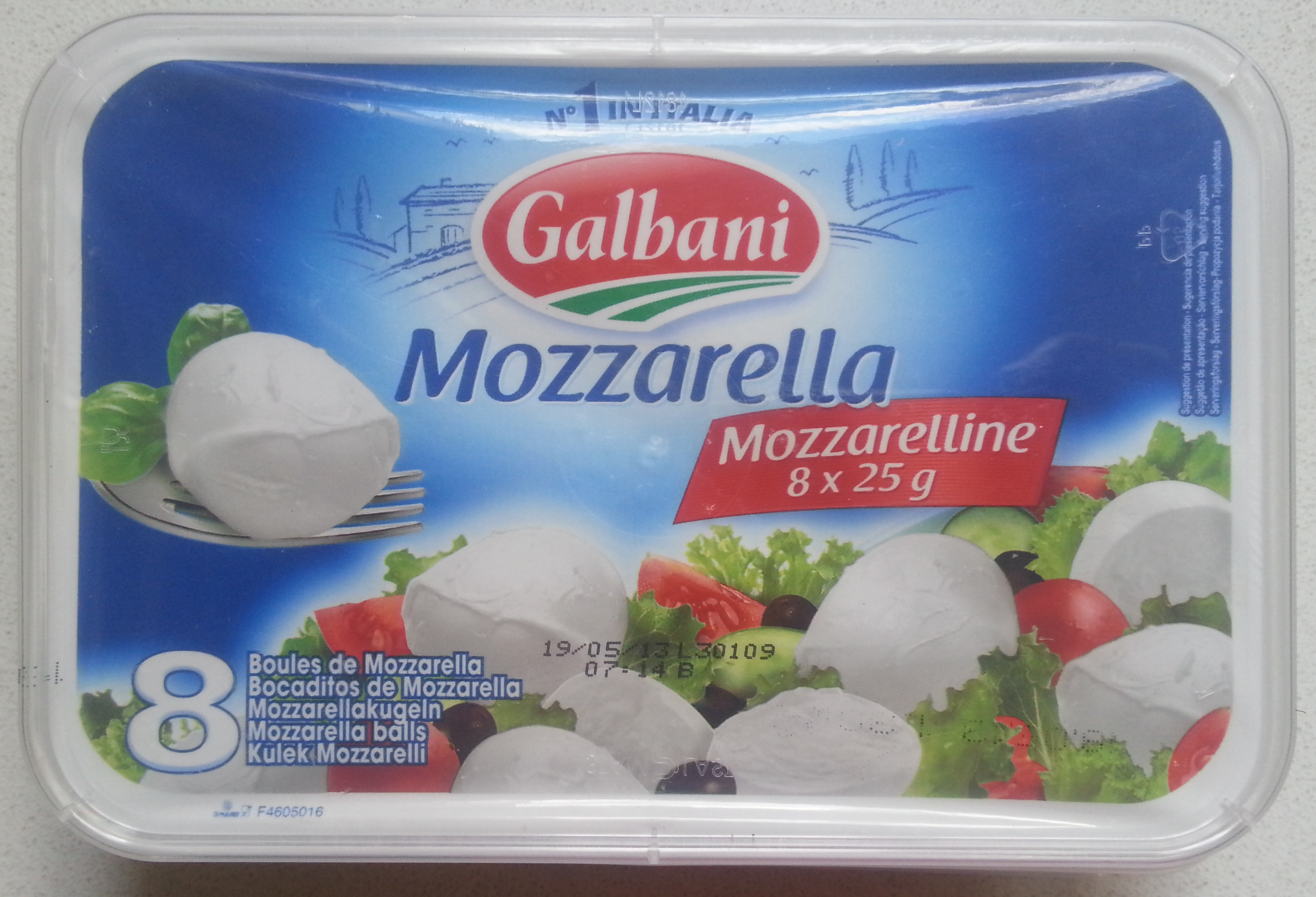 Mozzarella - Mozzarelline 8 Boules (17% MG) - Product - fr