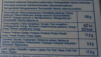 Mozzarella - Mozzarelline 8 Boules (17% MG) - Voedingswaarden - fr