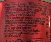 Double concentré de tomates 28% - Informations nutritionnelles - fr
