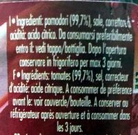 purée de tomates - Ingredients - fr