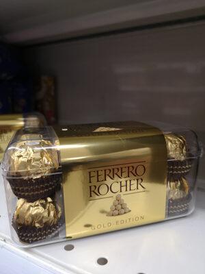 Ferrero rocher fines gaufrettes enrobees de chocolat au lait et noisettes avec noisette entiere boite de 16 pieces - Producto - es