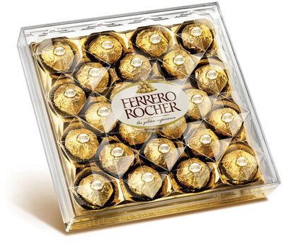 Ferrero rocher fines gaufrettes enrobees de chocolat au lait et noisettes avec noisette entiere boite de 24 pieces - Producte - fr