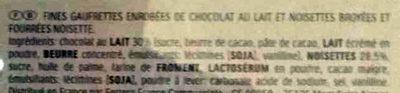 Ferrero Rocher - Ingredients