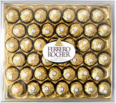 Ferrero rocher fines gaufrettes enrobees de chocolat au lait et noisettes avec noisette entiere t42 boite de 42 pieces - Prodotto - fr