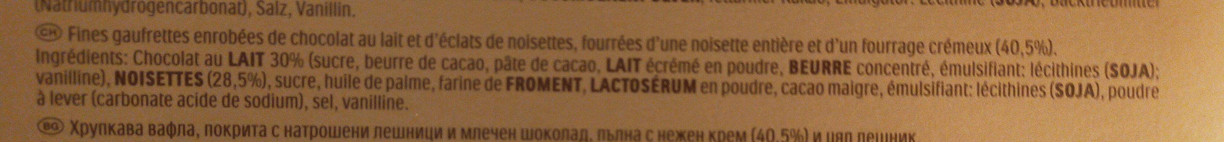 Rocher - Ingrediënten - fr