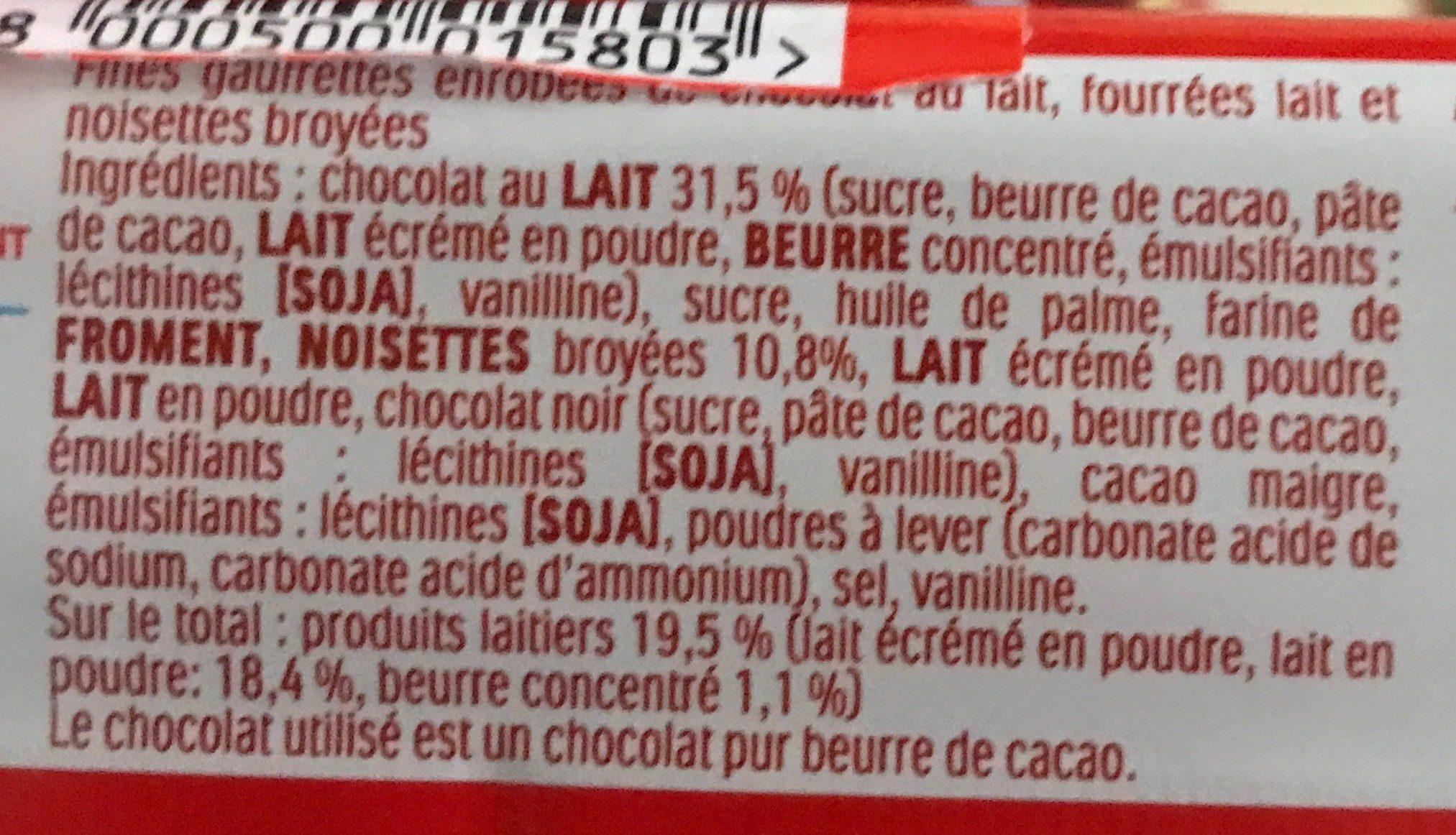 Bueno - Ingrédients - fr