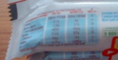 Kinder bueno gaufrettes enrobees de chocolat 5 x 2 barres - Informations nutritionnelles - fr