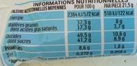 Bueno - Voedingswaarden - fr