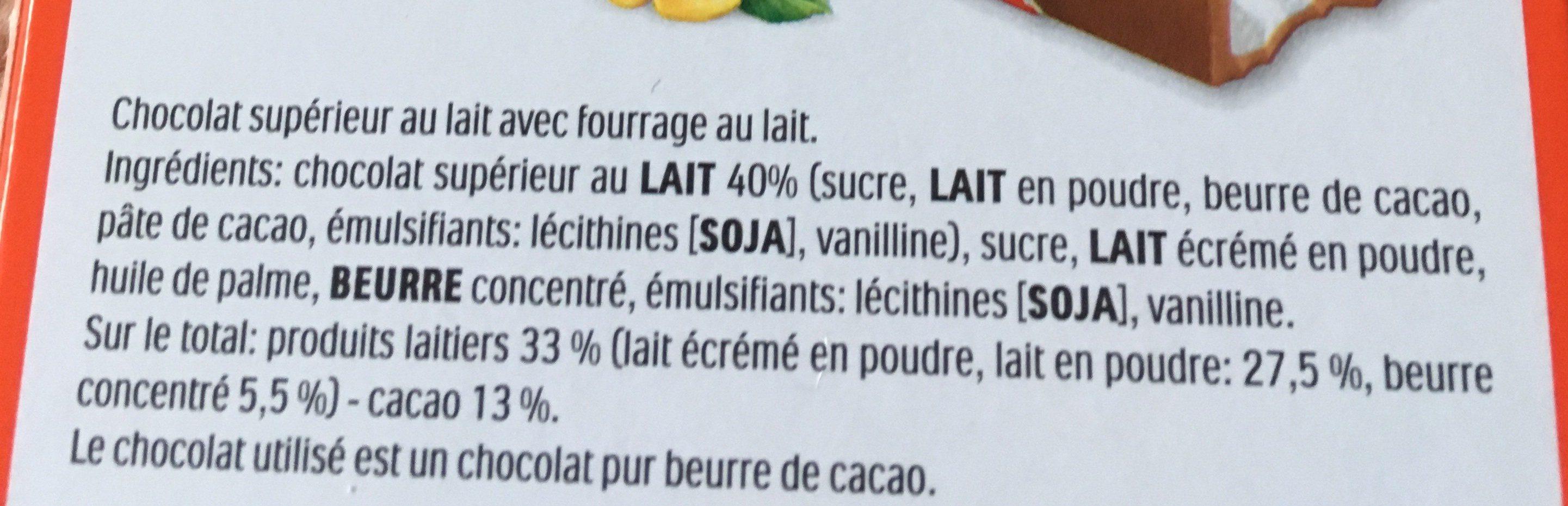 Kinder chocolat t24 mezzo metro demi metre - Ingredienti - fr