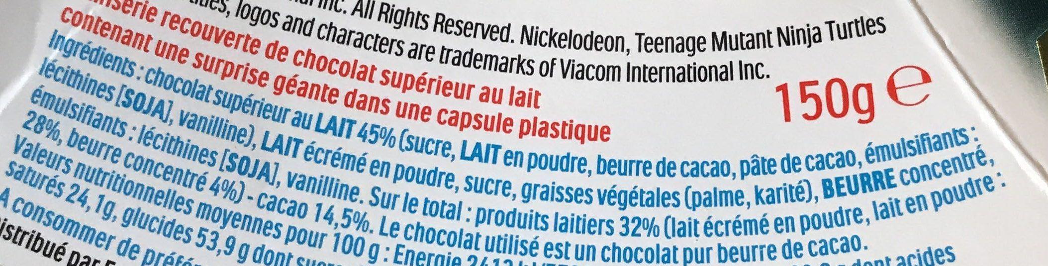Pâques Maxi Kinder Surprise garçon œuf chocolat - Ingrediënten - fr