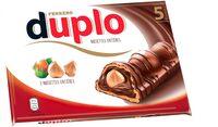 Duplo gaufrettes enrobees de chocolat fourrees noisettes entieres 5 pieces - Prodotto - fr