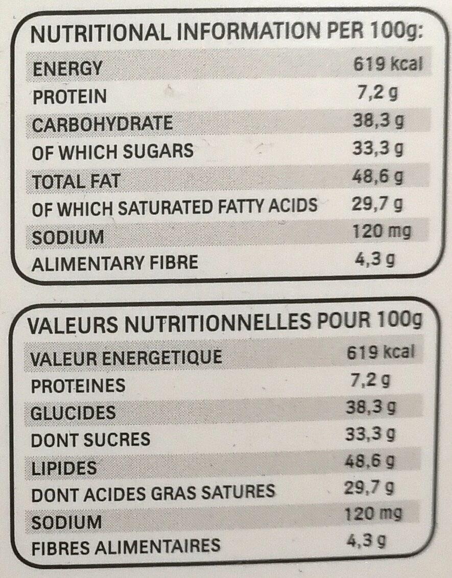 Fines gaufrettes enrobées de coco fourrées coco avec amande entière - Informació nutricional - fr