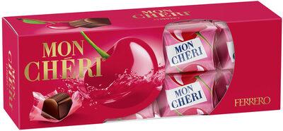 Mon cheri cerise bonbons de chocolat noir fourres cerise et liqueur etui de 16 bouchees - Produit - fr
