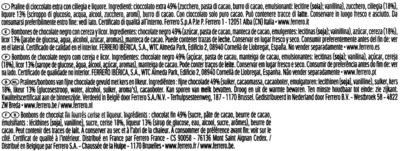 Mon cheri cerise bonbons de chocolat noir fourres cerise et liqueur etui de 16 bouchees - Ingrédients