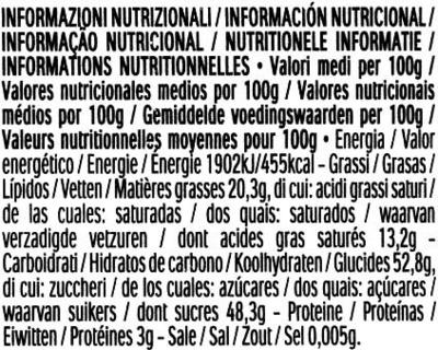 Bombones Mon Chéri - Informations nutritionnelles