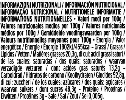 Bombones Mon Chéri - Información nutricional