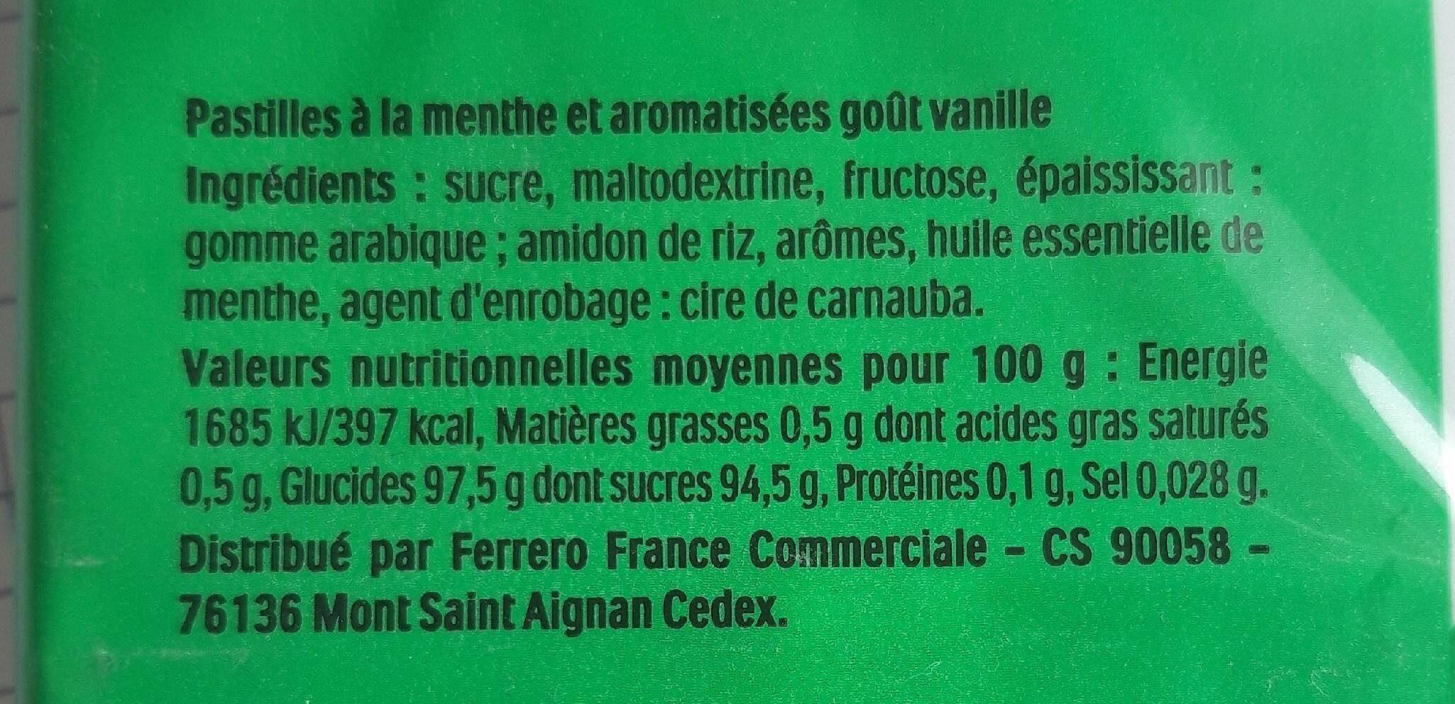 fresh mint - Informazioni nutrizionali - fr