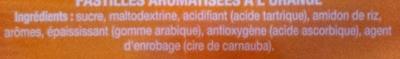 Tic Tac orange - Ingredienti - fr