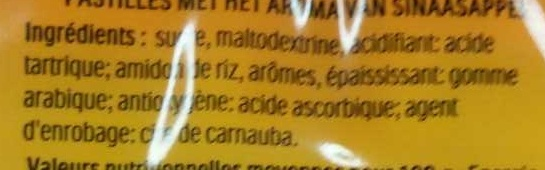 Tic Tac goût Orange - Ingredients - fr