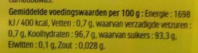 Tic Tac goût Orange - Nutrition facts - fr