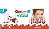Kinder chocolat - chocolat au lait avec fourrage au lait 24 barres - Prodotto - fr