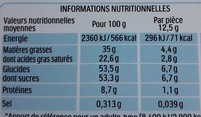 Kinder chocolat - chocolat au lait avec fourrage au lait 24 barres - Informazioni nutrizionali - fr