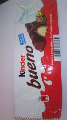 Kinder bueno gaufrettes enrobees de chocolat 2 barres - Product - en