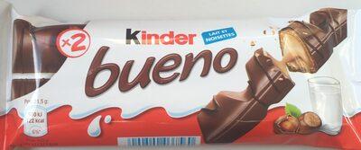 Kinder bueno gaufrettes enrobees de chocolat 2 barres - Producto - es