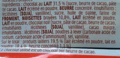Bueno - Ingredients