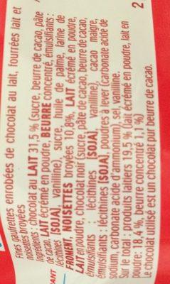 Kinder Bueno - Ingredients