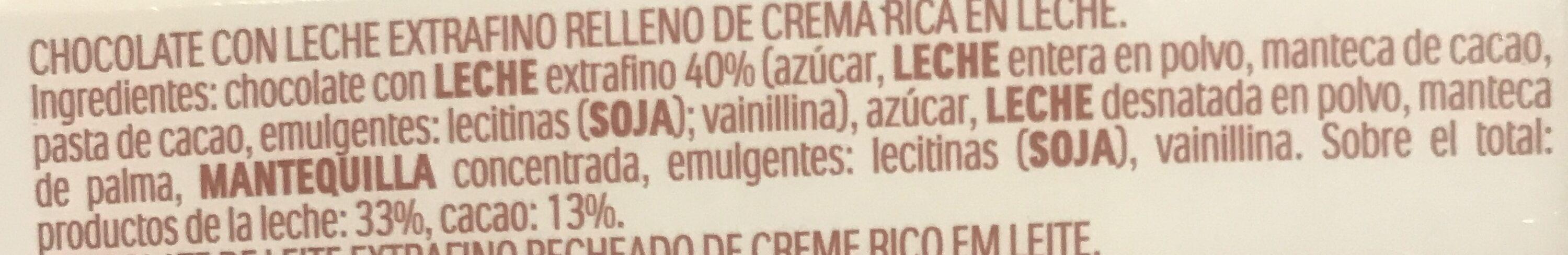 Chocolate - Ingredients - es