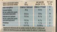 Chocolate - Nutrition facts - es
