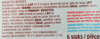 Bueno Mælkechokolade m / Hasselnødder - Ingrédients - fr