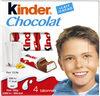 Kinder chocolat t4 etui de 4 batonnets - Product