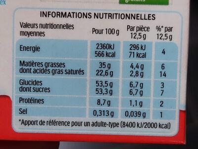 Kinder chocolat - chocolat au lait avec fourrage au lait 4 barres - Informations nutritionnelles - fr