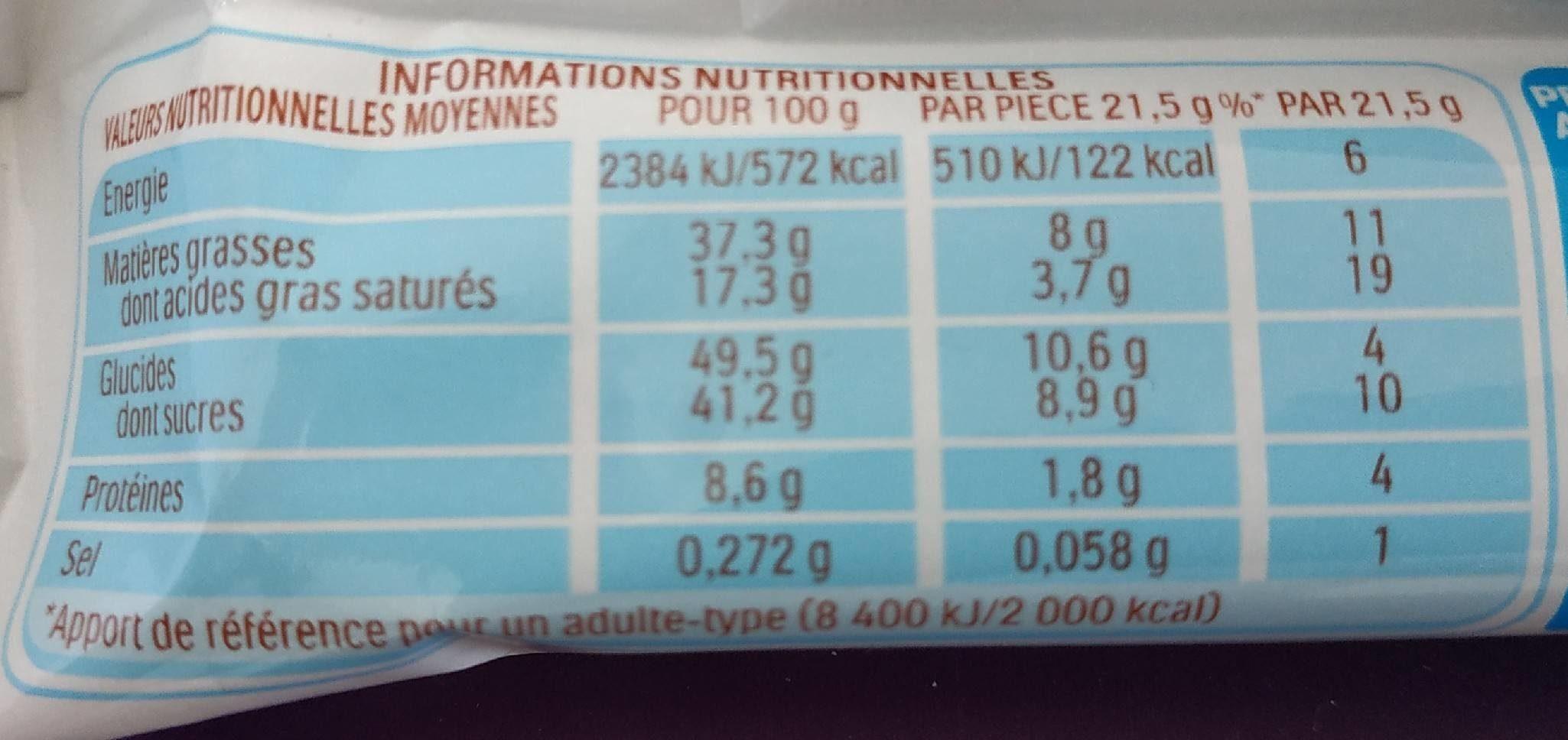Kinder bueno - Valori nutrizionali - fr