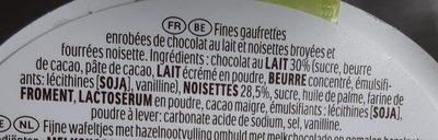 Pâques ferrero rocher fines gaufrettes enrobees de chocolat au lait et noisettes avec noisette entiere oeuf 16 pieces - Ingrédients - fr