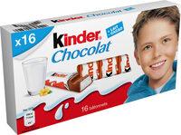 Kinder chocolat - chocolat au lait avec fourrage au lait 16 barres - Prodotto - fr
