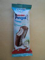 Kinder Pingu Prajitura cu umplutura de lapte si nuca de cocos trasa in ciocolata - Product - ro