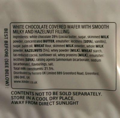 Bueno White - Ingredients - fr