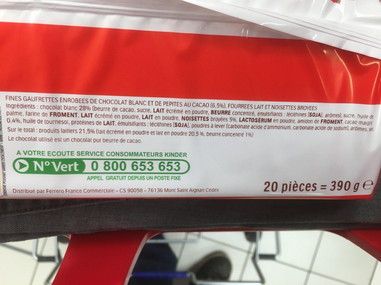 KinderBuenoWhite-390g - Ingrediënten - fr