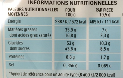 KinderBuenoWhite-390g - Voedingswaarden - fr