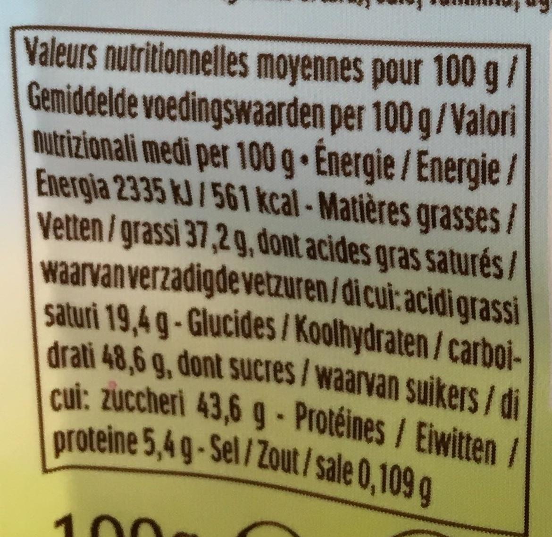 Ferrero Eggs Cacao - Informations nutritionnelles
