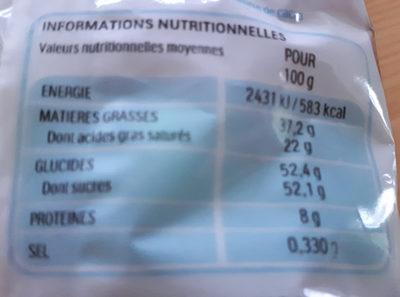Mini Eggs - Informations nutritionnelles - fr