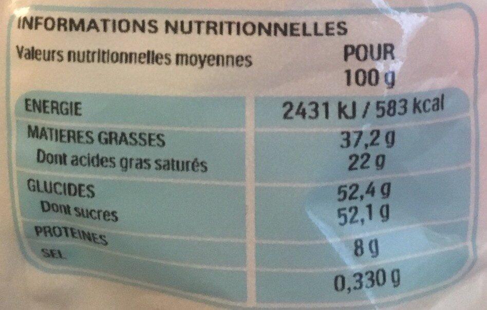 Kinder mini eggs petits œufs de chocolat superieur au lait fourres noisettes sachet de - Valori nutrizionali - fr