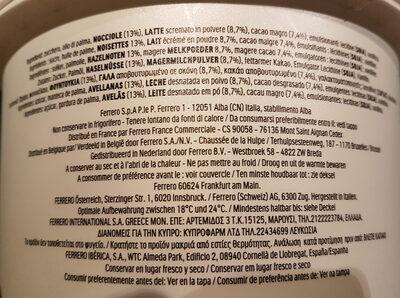 Nutella pate a tartiner noisettes-cacao t3000 pot de - Ingredienti - fr