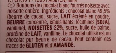 Ferrero golden galerie - Ingredients - fr